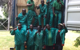 WWM Zambia's team give the thumbs up!